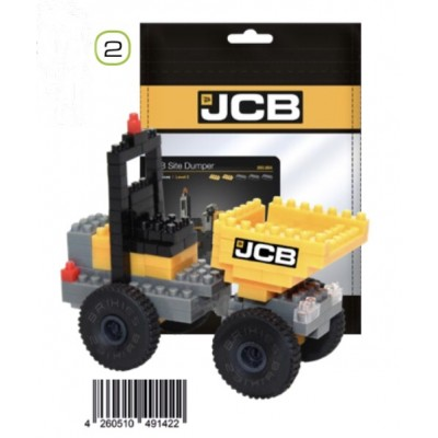 BRIXIES JCB SITE DUMPER (126 + PIECES) MINI BUILDING BLOCKS