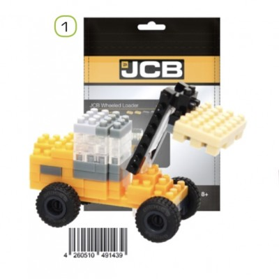 BRIXIES JCB WHEEL LOADER (88 + PIECES) MINI BUILDING BLOCKS