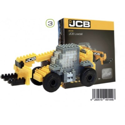 BRIXIES JCB LOADALL TELEHANDLER (215 + PIECES) MINI BUILDING BLOCKS IN BOX