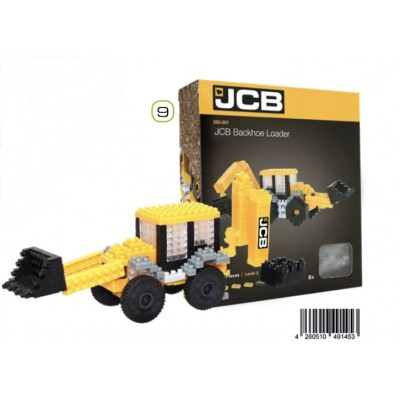 BRIXIES JCB BACKHOE LOADER (273 + PIECES) MINI BUILDING BLOCKS IN BOX