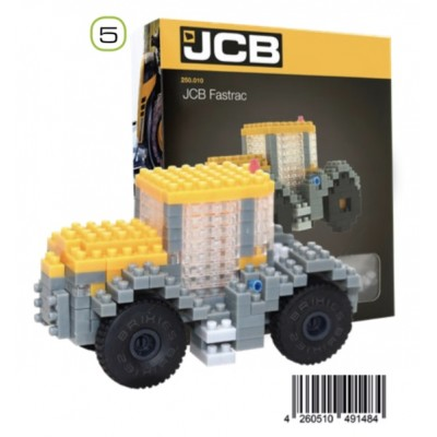 BRIXIES JCB FASTRAC TRACTOR (234 + PIECES) MINI BUILDING BLOCKS IN BOX
