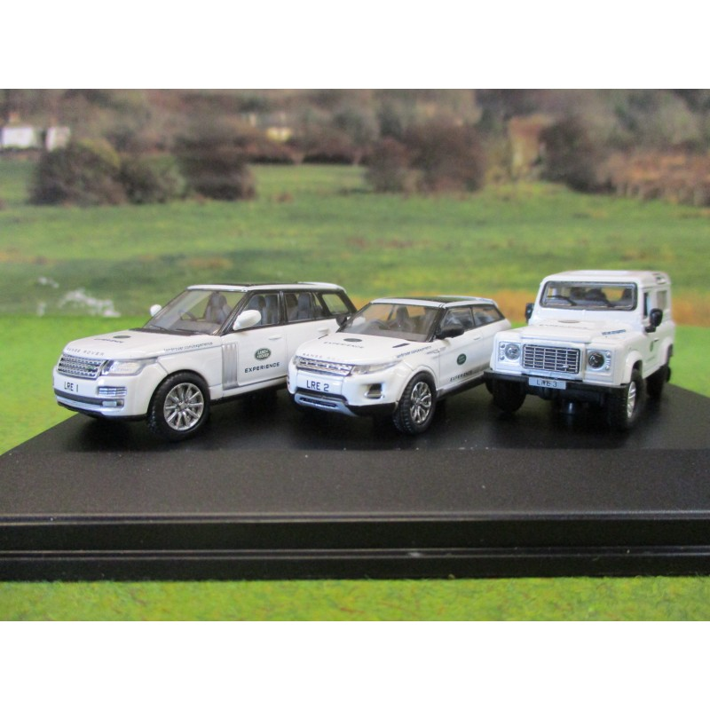 OXFORD 1:76 LAND ROVER EXPERIENCE 3 VEHICLE GIFT SET