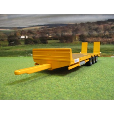 BRITAINS 1:32 KANE YELLOW TRIAXLE LOW LOADER TRAILER