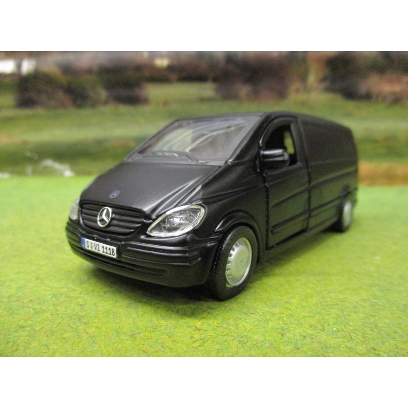 BURAGO 1:32 MERCEDES BENZ VITO VAN IN MATT BLACK