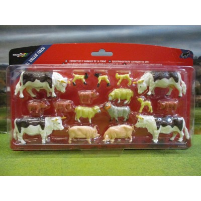 BRITAINS 17 FARM ANIMALS PACK COWS SHEEP & PIGS