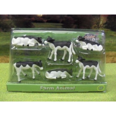KIDS GLOBE 1:32 FRIESIAN CALVES PACK OF SIX