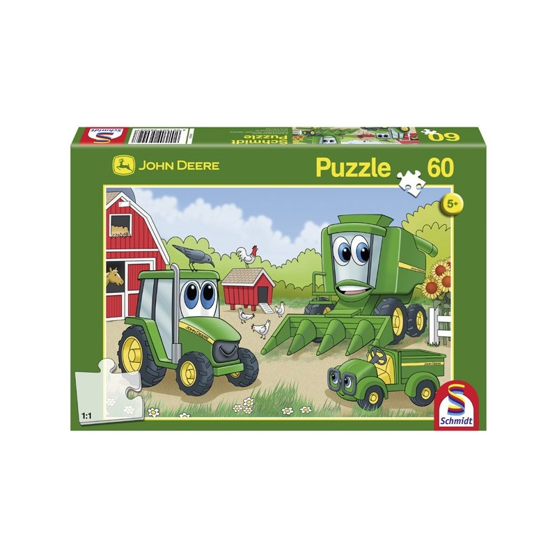 SCHMIDT JOHN DEERE JOHNNY & FRIENDS 60 PC JIGSAW PUZZLE