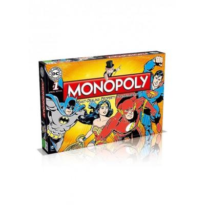 MONOPOLY - DC COMICS [BATMAN, SUPERMAN, FLASH, WONDERWOMAN] MONOPOLY BOARD GAME