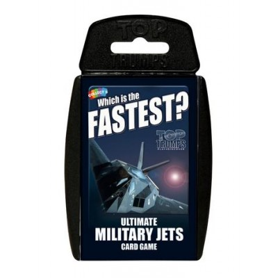 TOP TRUMPS - ULTIMATE MILITARY JETS 'WHICH IS THE FASTEST?' CARD GAME