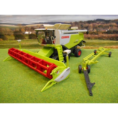 SIKU 1:32 CLAAS 770 LEXION TRACKED COMBINE & HEADER TRAILER