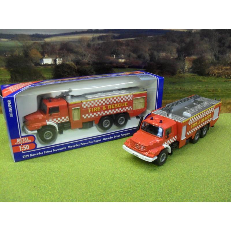 SIKU 1:50 MERCEDES ZETROS 2733 FIRE TENDER - SPECIAL UK EDITION