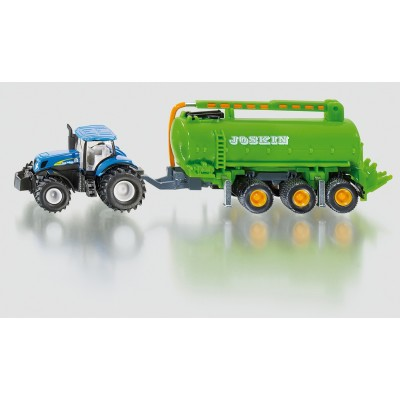 SIKU FARM 1:87 TRACTOR WITH SLURRY TANKER