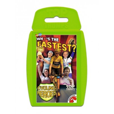 """TOP TRUMPS - CYCLING HEROES """"WHO'S THE FASTEST"""" CARD GAME"""