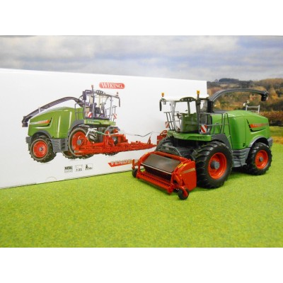 WIKING 1:32 FENDT NEW KATANA 85 WITH GRASS & MAIZE HEADERS