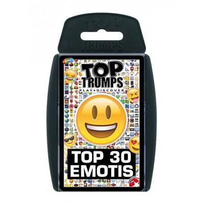 TOP TRUMPS - TOP 30 EMOJIS CARD GAME