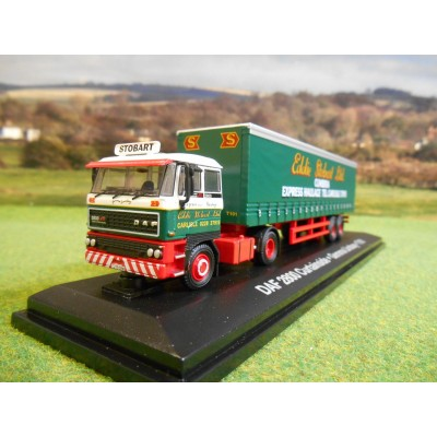 OXFORD ATLAS 1:76 EDDIE STOBART 1985 DAF 2800 TWIN AXLE CURTAINSIDER