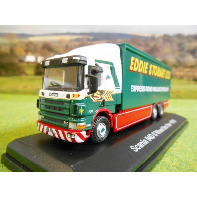 OXFORD ATLAS 1:76 EDDIE STOBART 1998 SCANIA 94D 6 WHEEL BOX TRUCK