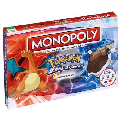 MONOPOLY - POKEMON KANTO EDITION BOARD GAME