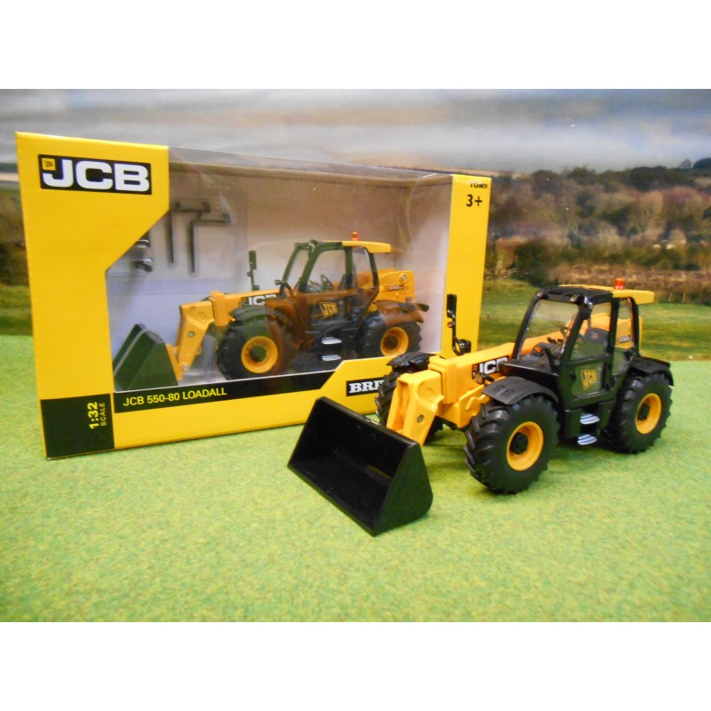 BRITAINS 1:32 JCB 550-80 LOADALL & ATTACHMENTS